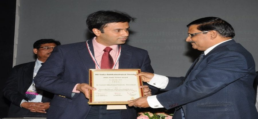 Dr. Debraj Shome Winning Colonel Rangachari Award For Best Research Paper India